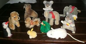 OLD LOT of 11 STEIFF MINIATURE ANIMALS