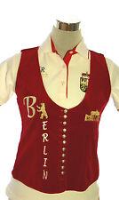 La Camisa Gilet Weste Trachtengilet Berlin Wappen Samt rot Gr 36