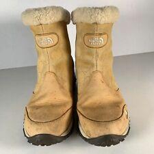 The North Face Women Boots Beige Primaloft Back Zip Winter Grip Size UK 7 EUR 41