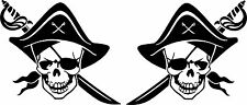 Pirates Stickers 2 x 150 mm x 130 mm Quality Stickers suitable for outdoors.