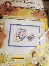 """True Colors Ribbon Embroidery Complete """"Butterflies"""" 6.5 x 4.5"""" new unopened"""