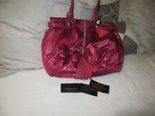 Lancaster Italy Dk Pink leather nylon Limited Edition handbag shoulder bag NEW
