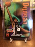 TIM DUNCAN 1997-98 Skybox Z FORCE Rookie Card RC #111 - SAN ANTONIO SPURS - NICE
