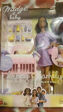 Barbie Happy Family Midge & Baby Doll Set 2002 Mattel 56664 Read Plastic Cut