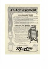 VINTAGE 1919 MAYTAG ELECTRIC WRINGER WASHING MACHINE INVENTION AD PRINT