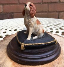 Country Artists Cavalier King Charles Spaniel Dog on Cushion Figurine