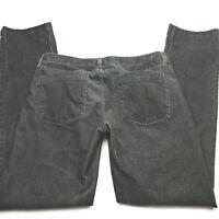 J. CREW Womens CITY FIT Low Rise Straight Leg Stretch Corduroy Pants Sz 27S Gray