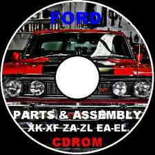 FORD FALCON XK XL XM XP XR XT XW XY XA XB XD XE FORD FACTORY PARTS CATALOGUE CD