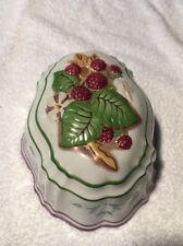 Vintage Le Cordon Bleu Porcelain Raspberry Jelly Mould ,The Franklin Mint