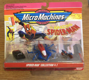 Micro Machines #65826 SPIDER-MAN COLLECTION #1 Sealed Marvel Toys 1993 Galoob