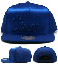 Philadelphia 76ers New Mitchell & Ness Smooth Script Blue Era Snapback Hat Cap