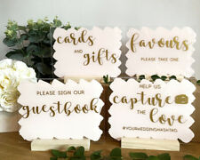 Wedding A5 Acrylic SIGNS 15 x 20 cm, cards gifts photography favours guestbook