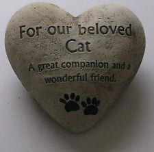 In Memoria Amorevole cimitero cuore PLACCA PIETRA-AMATA CAT Tomba Memoriale NUOVO