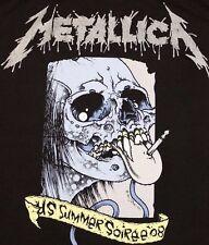 L * nwot METALLICA Pushead concert tour t shirt * 2008 vtg nos