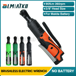 18/28V 90° 90 Nm Electric Cordless Right Angle Wrench 3/8'' Ratchet For Makita