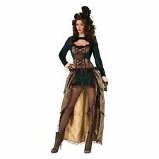 MADAME STEAMPUNK WILD WEST SALOON UK 10-14 Womens Ladies Fancy Dress Costume