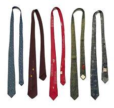 Lot of 5 Vtg 1950s Neckties ATOMIC Elvis ROCKABILLY mod Preppy IVY Ties Tie VLV