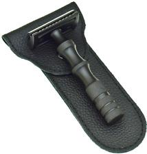 Black, German Stainless Safety Razor + 50 Razor Blades, Double Edge Razor, Prime