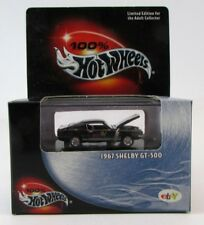 100% Hot Wheels Black Box 1967 Shelby GT-500 Mustang Ebay Logo w/RR's FREE SHIP