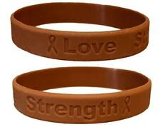 2 Brown Anti-Tobacco Awareness Bracelets - High Quality Silicone Bracelets