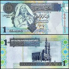 LIBYA 1 DINAR 2004 UNC  P-68b MUAMMAR GADDAFI
