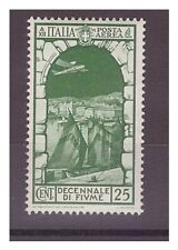 REGNO 1934  - POSTA AEREA  ANNESSIONE  FIUME   CENT. 25   -  NUOVO **