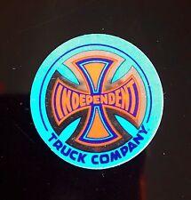2x INDEPENDENT Trucks Company Chrome Foil Orange & Blue Cross Skateboard Sticker