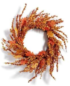 Martha Stewart Harvest Pumpkin Berry Artificial Wreath 24IN DIA.
