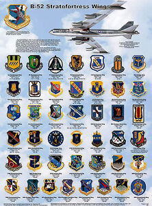 B-52 Stratofortress Wings Laminated Educational Airplane Chart Poster 18X24