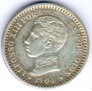 Spanien Alfonso XIII. (1886-1931) 50 Centimos 1904 PC-V KM#723, ss/vz