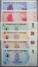 6 diff. Zimbabwe 2006-09 paper money Au-Unc.