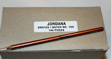 "Case of 144 Jordana Large 7-½"" Kohl Kajal Lipliner Pencils - Shade ""BRONZE"""