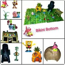 Aquarium Dekoration Bikini Bottom Spongebob Terrarium Tisch Deko Set und Figuren