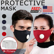 Air Purifying Mask carbon Filter Cotton Mouth Muffle Anti Haze Fog Face Cover