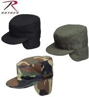 Rothco Military Style Cold Weather Patrol Fatigue Cap W/Ear Flaps 5612 5712 5812