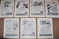 1915 CAMPBELL'S SOUP advertisements x7, Valentine, Campbell's Kids etc