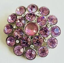 Vintage Coro Pink Rhinestone Brooch Pin Jewelry