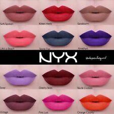 NYX Liquid Suede Cream Lipstick Shiny Lip Gloss Purple Glitter