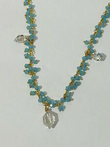 Herkimer Mines Diamond Quartz Gemstone Necklace