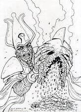BRENDAN McCARTHY Dr. Fate #16 ORIGINAL COVER ART