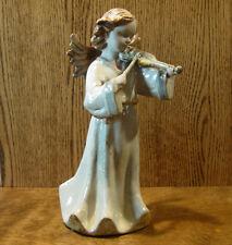 Transpac Ceramic Angel Figurine #D5497C ANGEL w/ VIOLIN, NIB From Retail Store