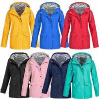 Autumn Women Rain Jacket Outdoor Plus Waterproof Hooded Raincoat Windproof Coat