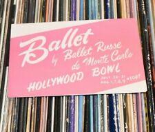Ballet Russe de Monte Carlo Hollywood Bowl Flyer Advertisement 1947