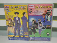 ANIME VHS VIDEO SET OF 2 EL HAZARD VOLUME 1 AND 2 100 MINUTES ENGLISH DUBBED!