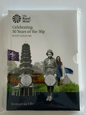 50 Years of the 50p BU British Culture 2019 Official 5 Coin Set Inc Kew Gardens