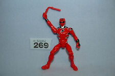 "POWER RANGERS SUPER MEGAFORCE 5"" RED JUNGLE FURY FIGURE WITH WEAPON"