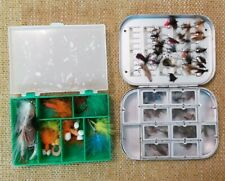 Vintage Fly Fishing Box x 2. Includes a quantity of flies.