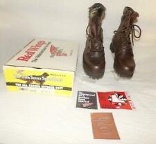 "Men'S Irish Setter Red Wing 8"" Leather Hunting Work Boots #858 Usa New In Box"
