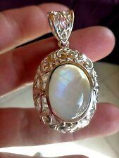 Beau pendentif en ARGENT 925 avec pierre de lune poinçon