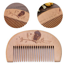 Peach Wood Comb Brush Fine Tooth Anti Static Hair Beard Care Head Massage Tool